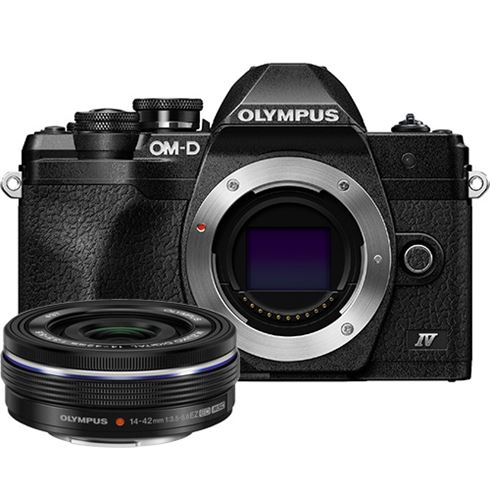 Olympus E-M10 IV 1442 EZ Pancake Kit blk/blk