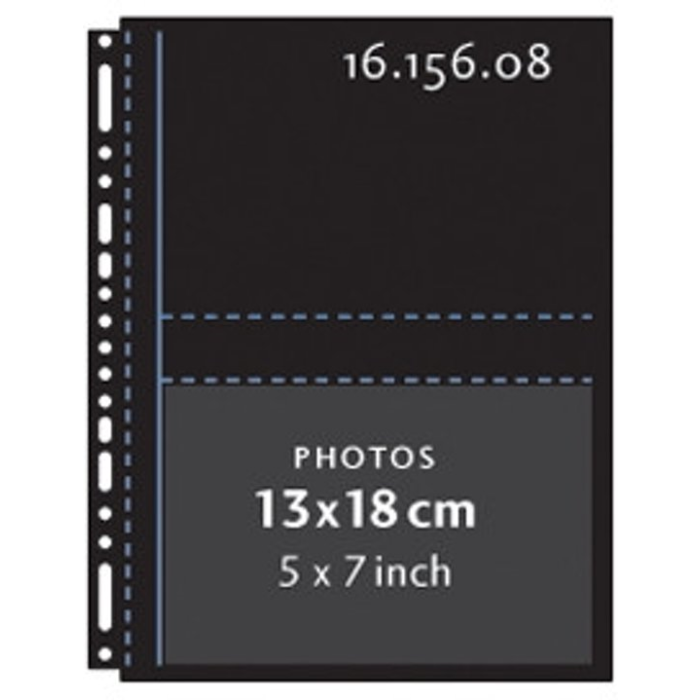 Henzo 10 Fototassen 13x18 zwart 16.156.08