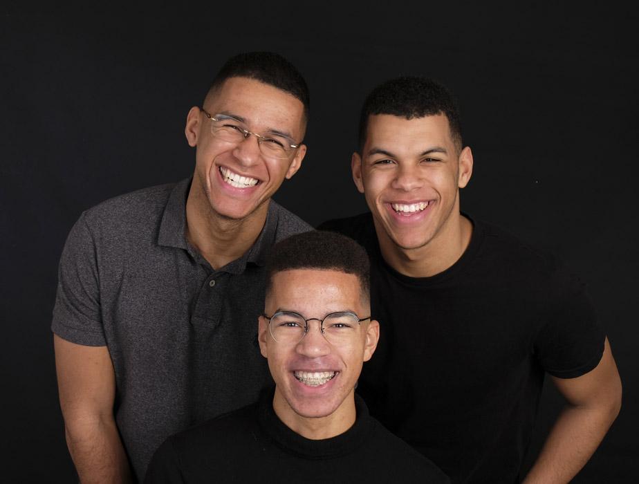 Portret van 3 Heren - Hekkert