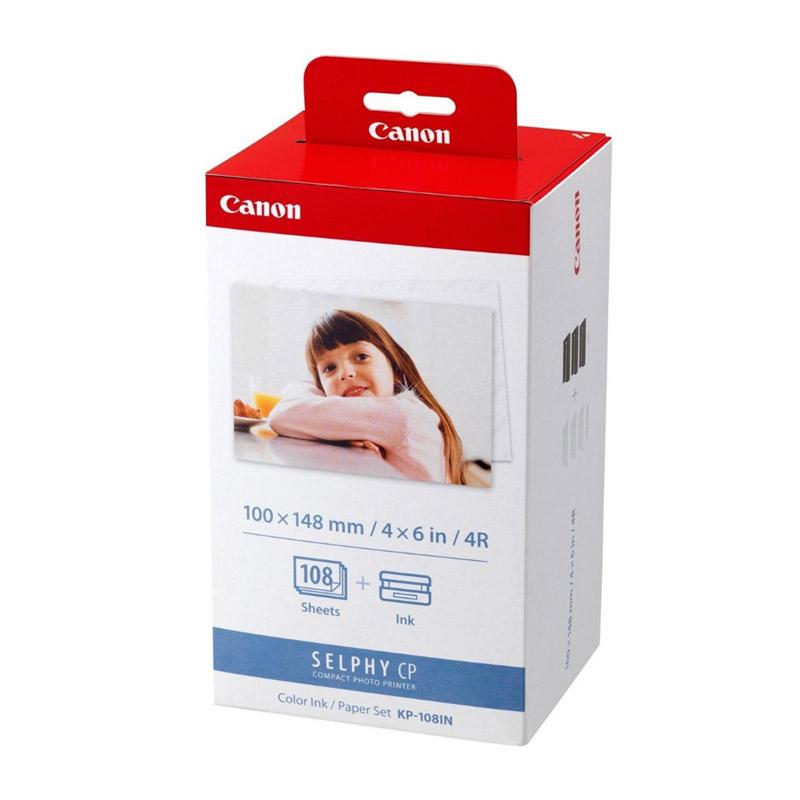 Canon KP-108IP/IN 3 inktcartridges + 10x15 papier (origineel)