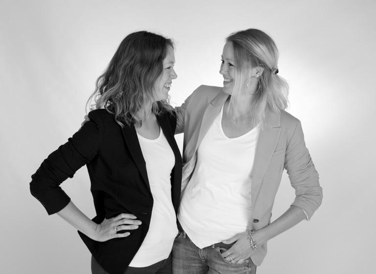 Duo Portret Zwart Wit