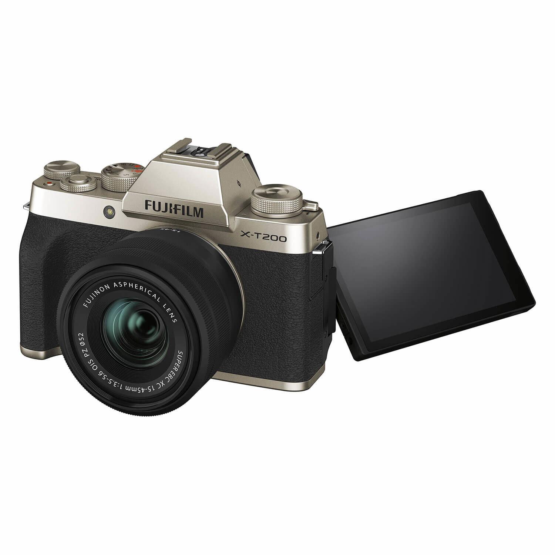 FUJIFILM X-T200 Goud / XC15-45mm F3.5-5.6 OIS PZ Kit